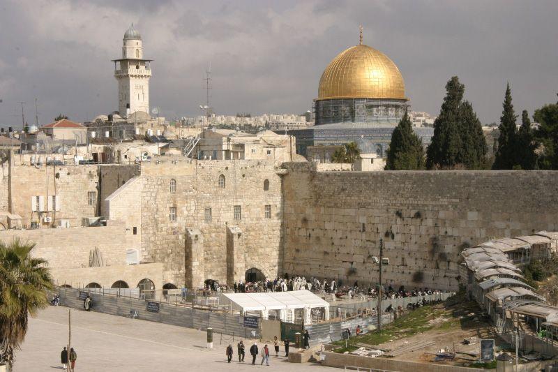 Ryhmämatkakuva Jerusalemista.